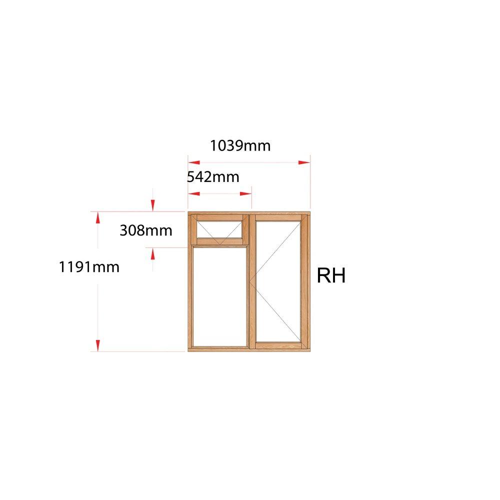 Van Acht Wood Fanlight Windows Full Pane Product MB2F RH