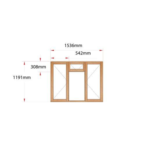 Van Acht Wood Fanlight Windows Full Pane Product MB3F
