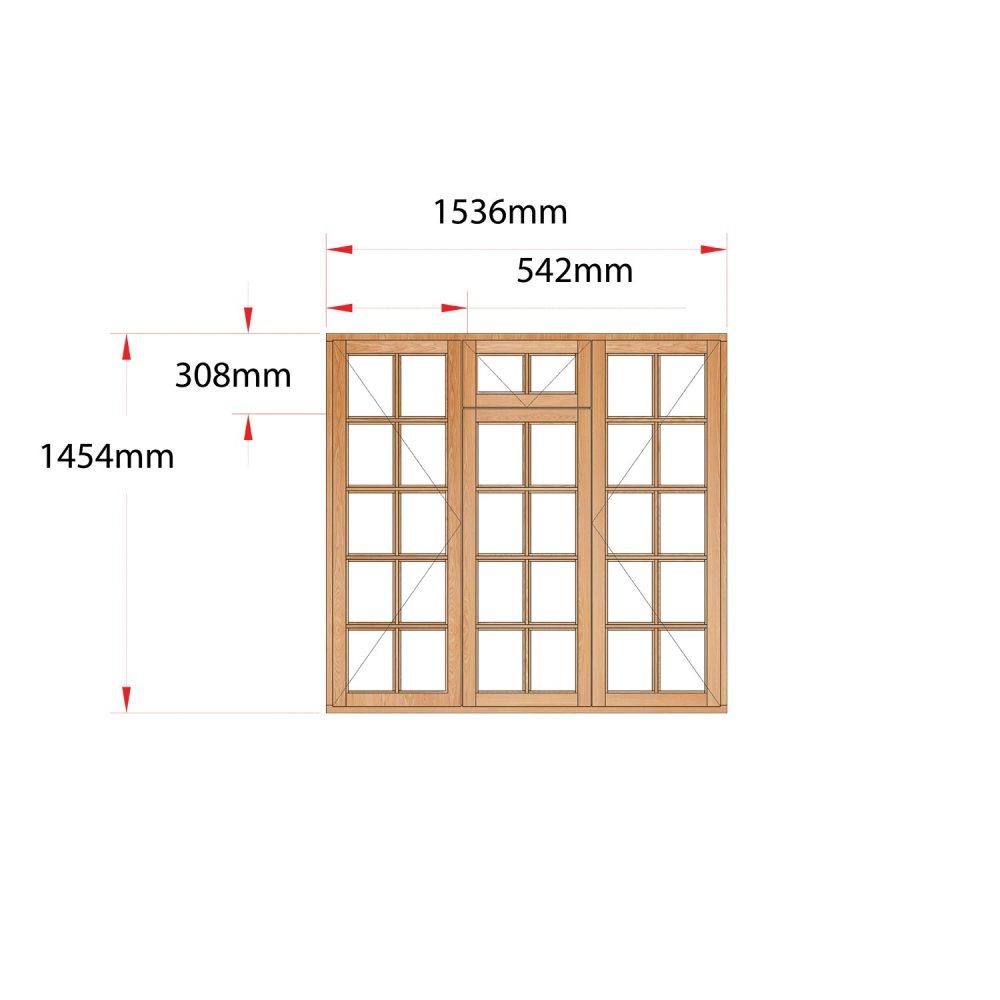 Van Acht Wood Fanlight Windows Small Pane Product MA3FSP