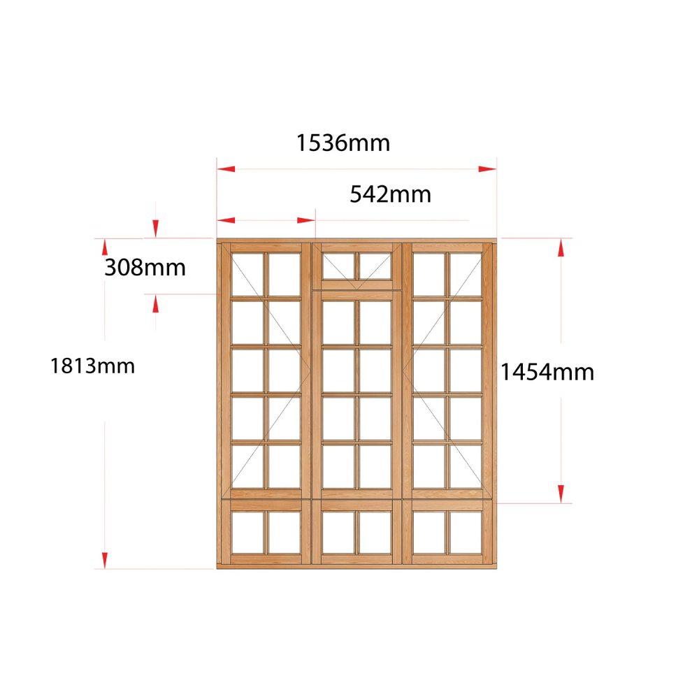Van Acht Wood Fanlight Windows Small Pane Product MA3FSPS
