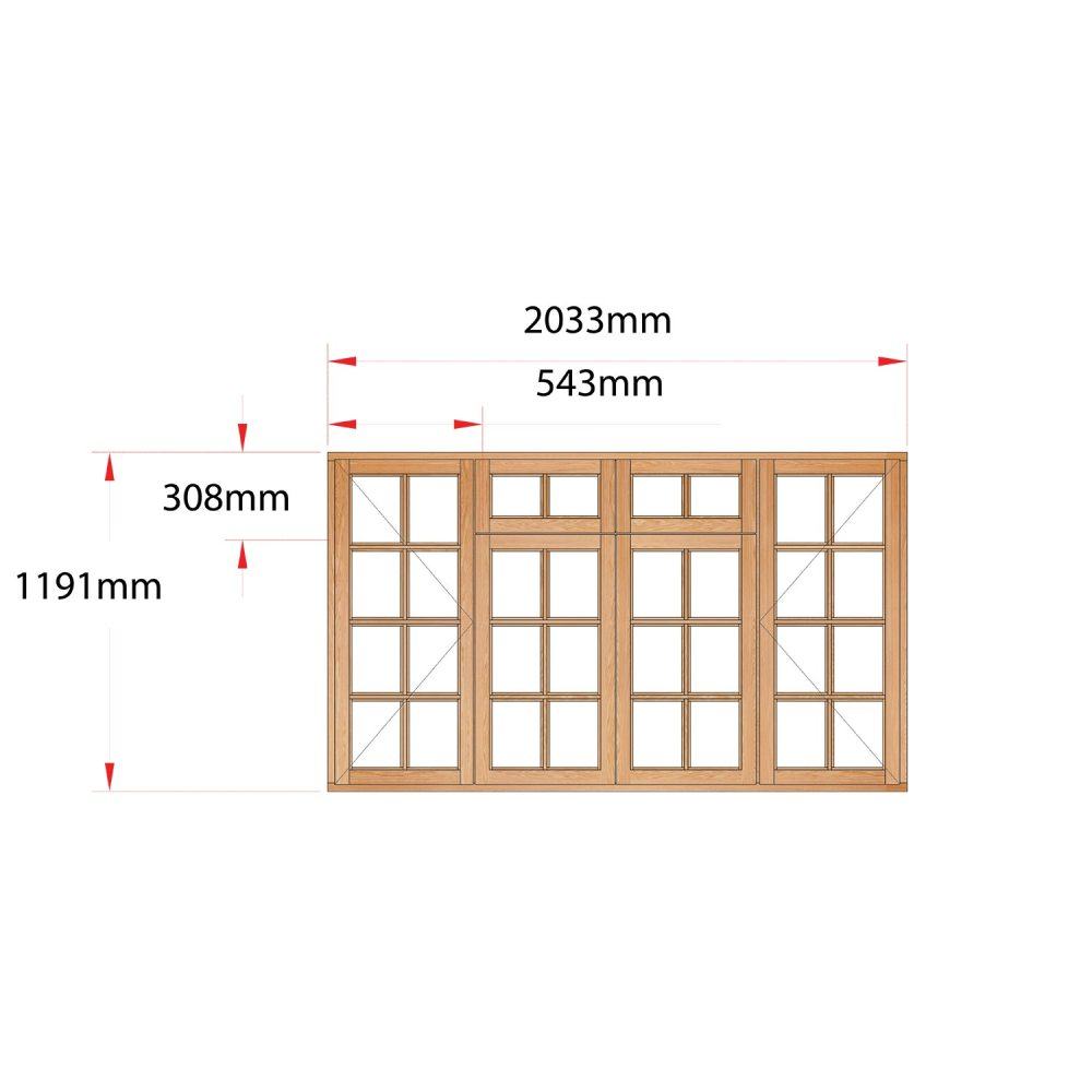 Van Acht Wood Fanlight Windows Small Pane Product MB4FSP