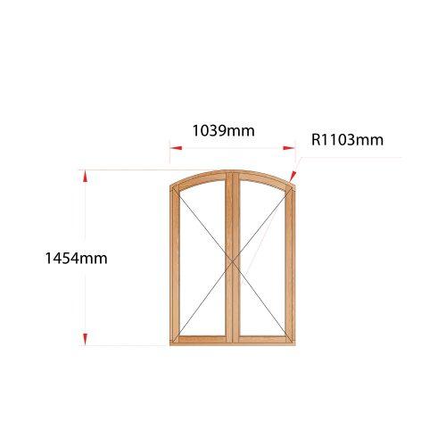 Van Acht Wood Flat Arch Windows Product AHA22