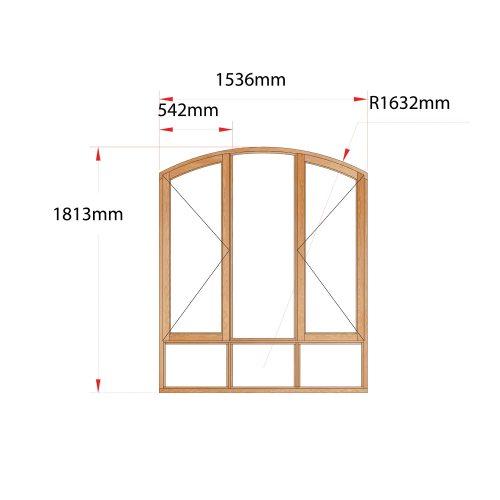 Van Acht Wood Flat Arch Windows Product AHA3S
