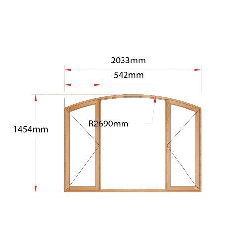 Van Acht Wood Flat Arch Windows Product AHA5