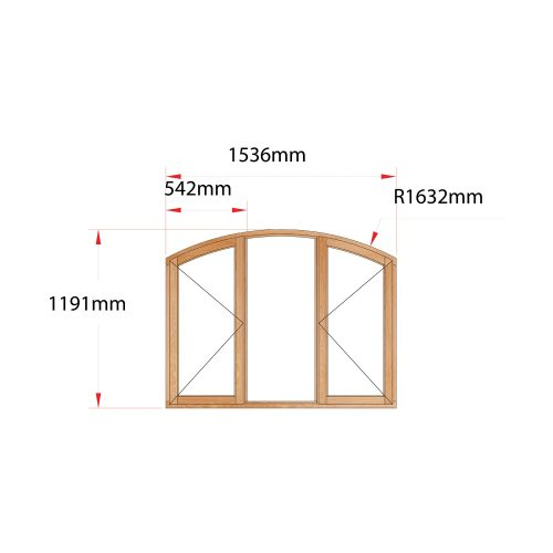 Van Acht Wood Flat Arch Windows Product AHB3