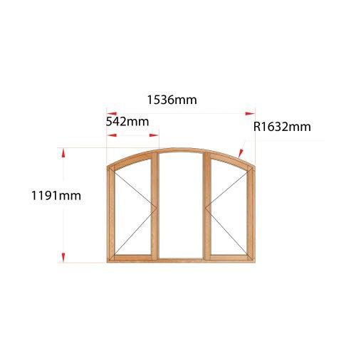 Van Acht Wood Flat Arch Windows Product AHB3