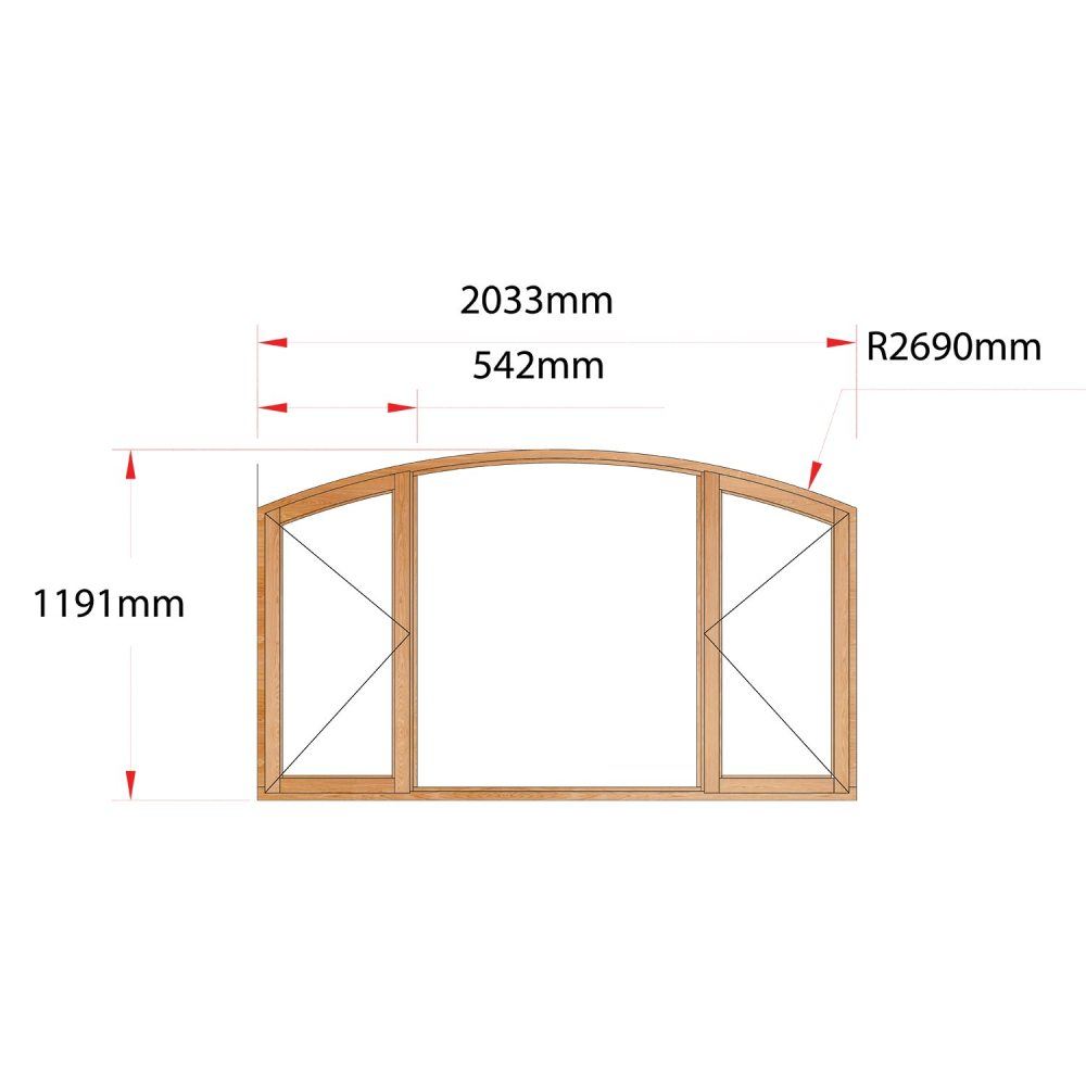 Van Acht Wood Flat Arch Windows Product AHB5