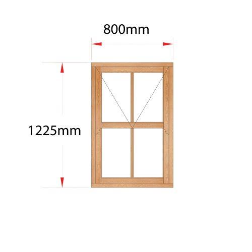 Van Acht Wood Mock Sash Windows Product HMS1V