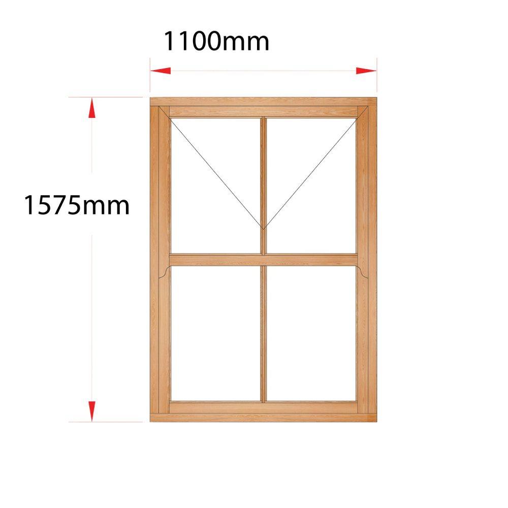 Van Acht Wood Mock Sash Windows Product HMS3V