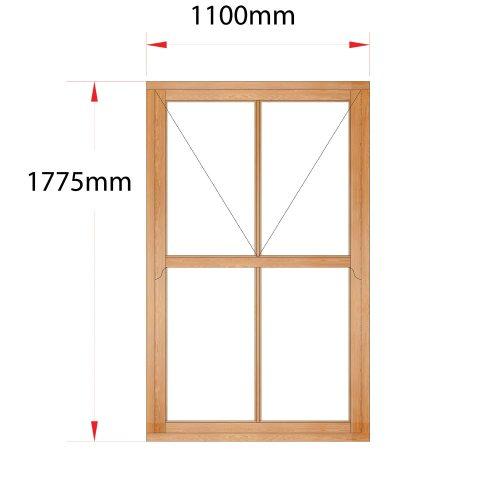 Van Acht Wood Mock Sash Windows Product HMS4V