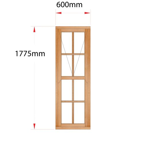 Van Acht Wood Mock Sash Windows Product HMS7SP