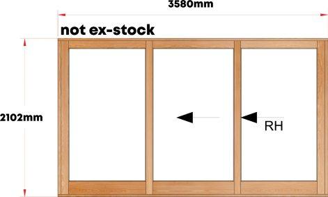 Van Acht Wood Sliding Doors Full Pane ModelVSD3.6TS