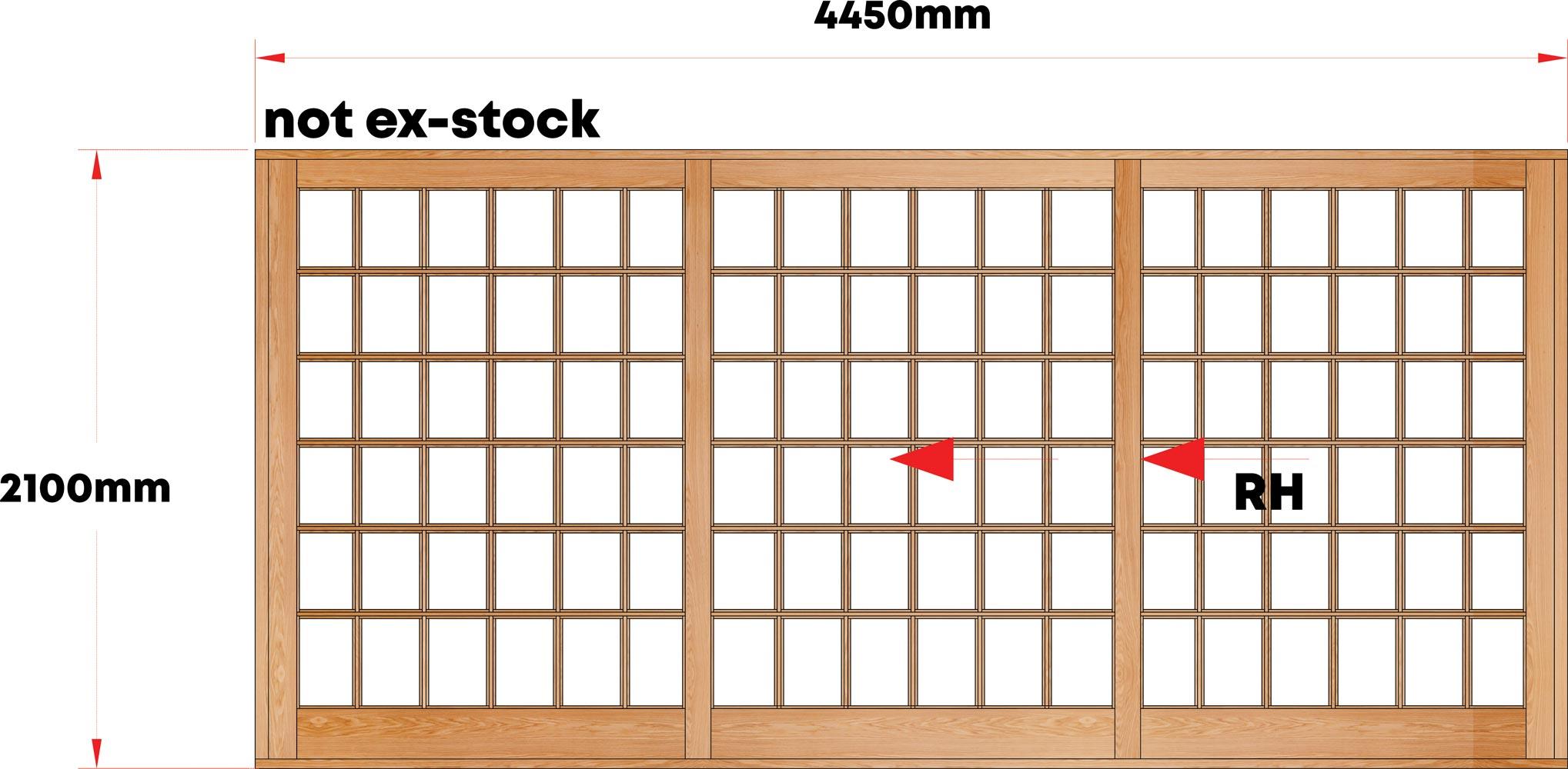 Van Acht Wood Sliding Doors Small Pane Model VSD4.4SPTS