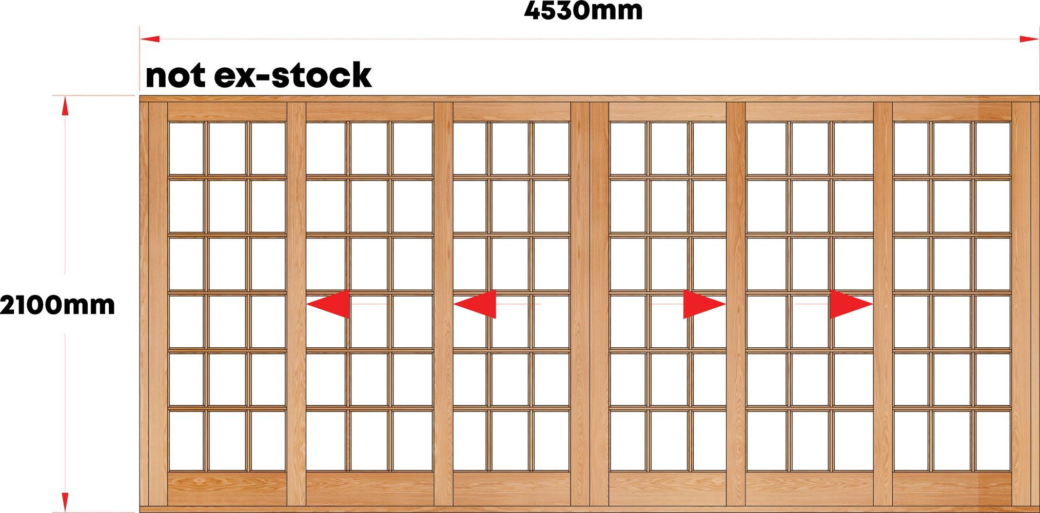 Van Acht Wood Sliding Doors Small Pane Model VSD4.6SPTSCO
