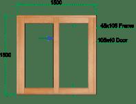 Van Acht Wood Sliding Windows Model VSW1515L