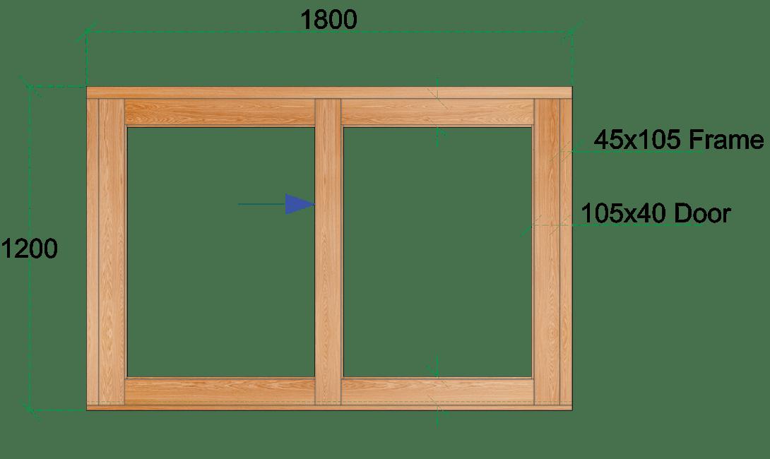 Van Acht Wood Sliding Windows Model VSW1812L