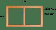 Van Acht Wood Sliding Windows Model VSW2112L
