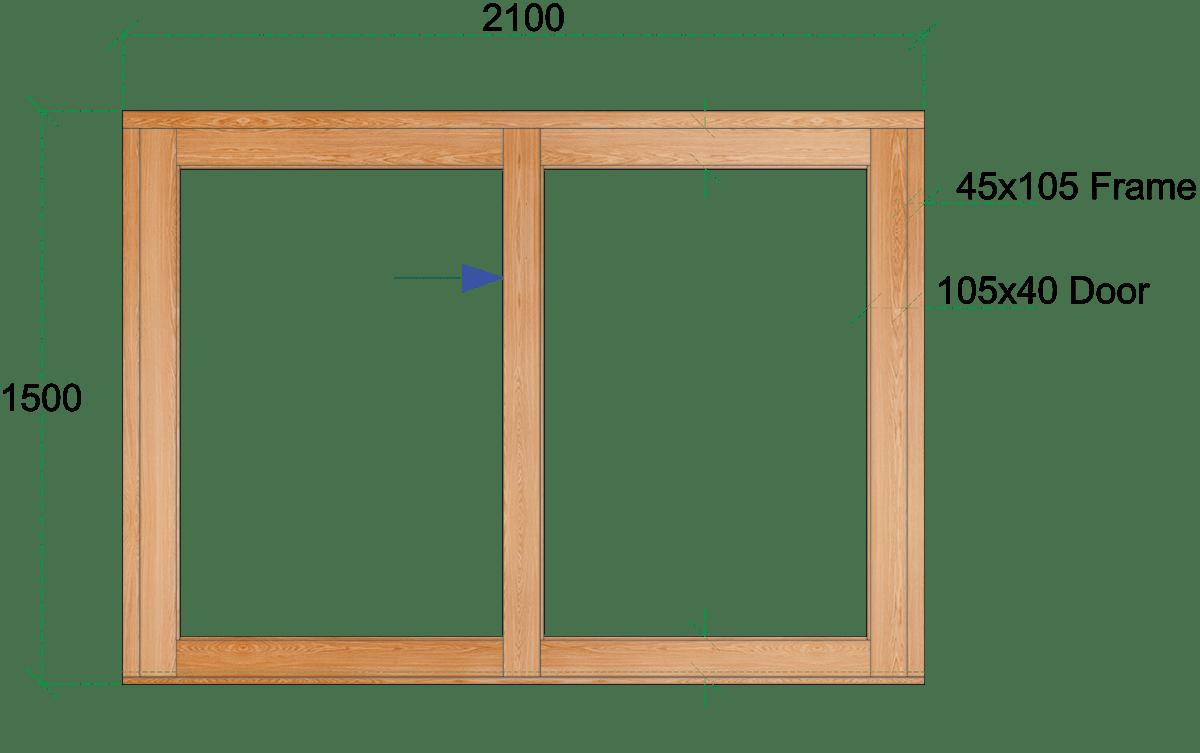 Van Acht Wood Sliding Windows Model VSW2115L
