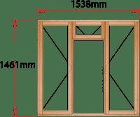 Van Acht Wood Windows Fanlight Windows Full Pane Model MA3F