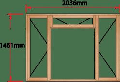 Van Acht Wood Windows Fanlight Windows Full Pane Model MA4F