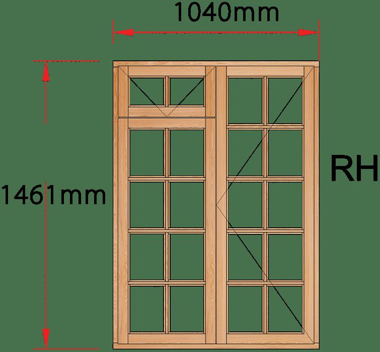 Van Acht Wood Windows Fanlight Windows Small Pane Model MA2FSP RH