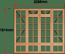 Van Acht Wood Windows Fanlight Windows Small Pane Model MA4FSPS