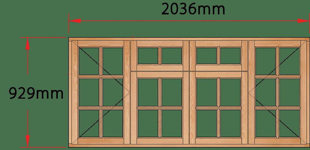 Van Acht Wood Windows Fanlight Windows Small Pane Model MC4FSP