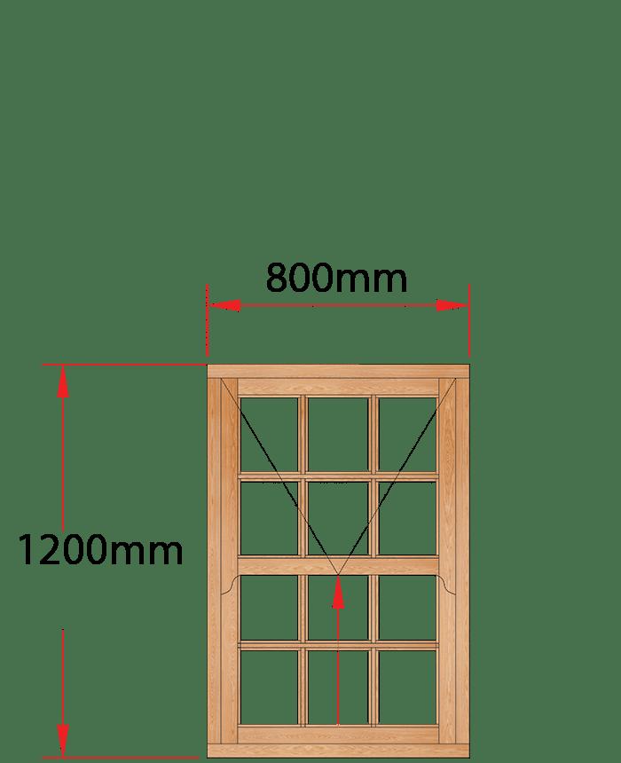 Van Acht Wood Windows Mock Easy Lift Sash Small Pane Model HMEL1SP