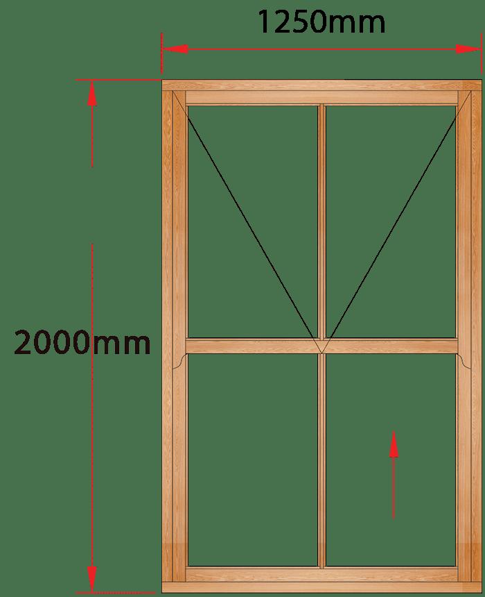 Van Acht Wood Windows Mock Easy Lift Sash Small Pane Model HMEL6V