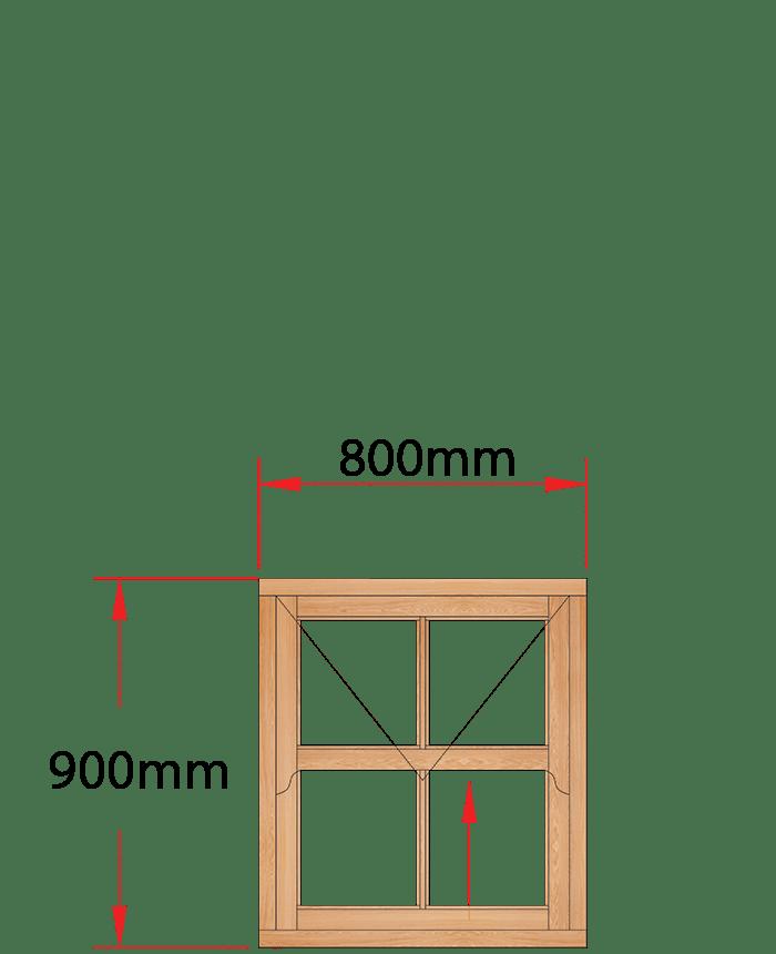 Van Acht Wood Windows Mock Easy Lift Sash Victorian Model HMEL1.5V