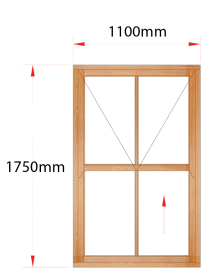 Van Acht Wood Windows Mock Easy Lift Sash Victorian Model HMEL4V