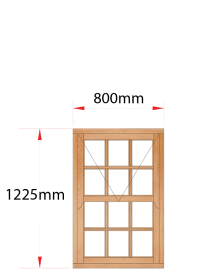 Van Acht Wood Windows Mock Sash Small Pane Model HMS1SP
