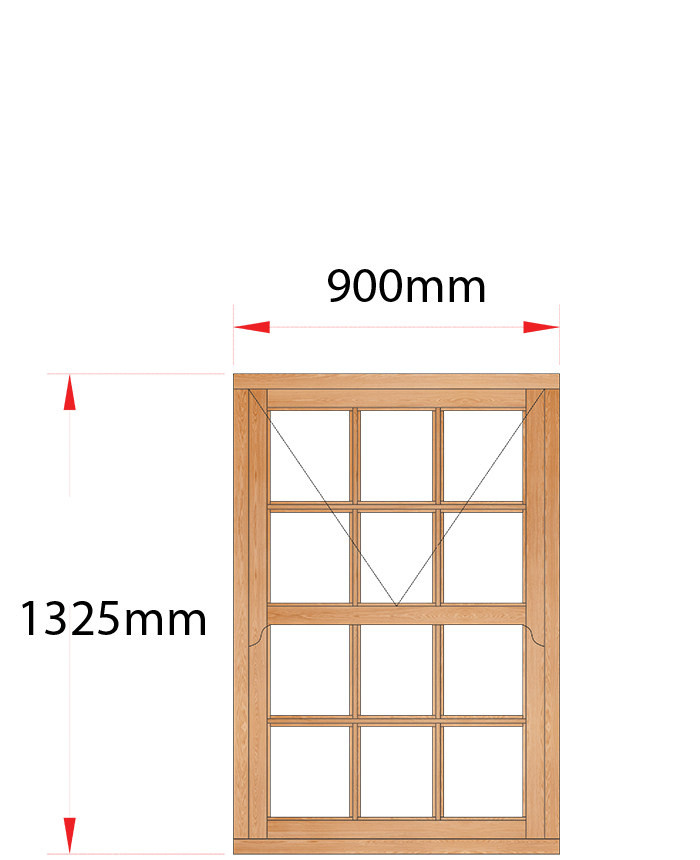 Van Acht Wood Windows Mock Sash Small Pane Model HMS2SP