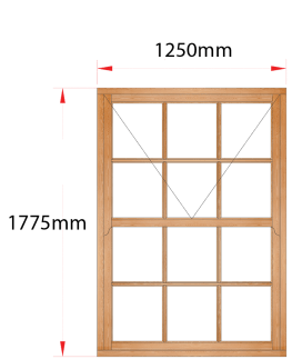 Van Acht Wood Windows Mock Sash Small Pane Model HMS5SP