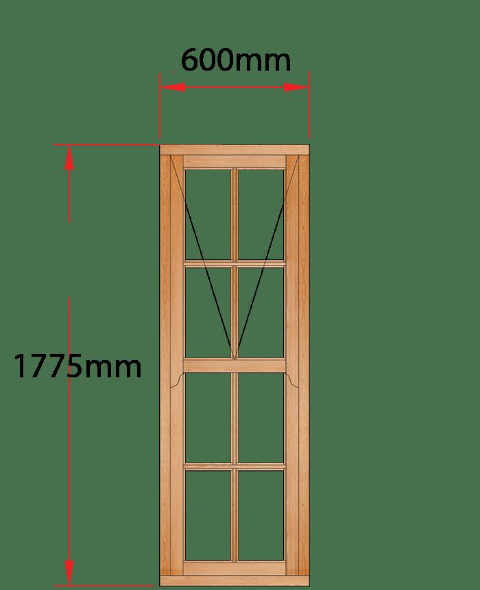 Van Acht Wood Windows Mock Sash Small Pane Model HMS7SP