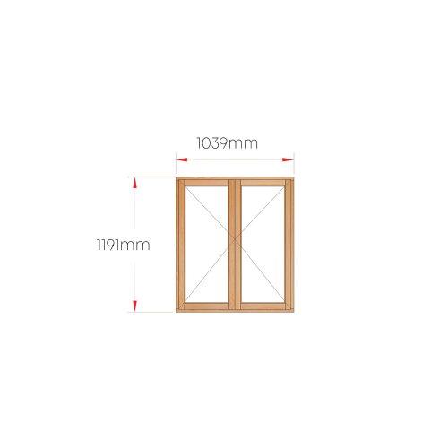 Van Acht Wood Windows Side Hung Full Pane MB22