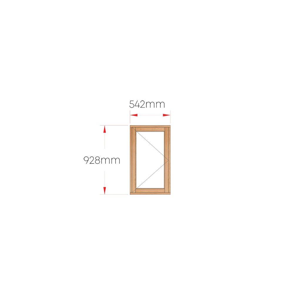 Van Acht Wood Windows Side Hung Full Pane MC1 LH