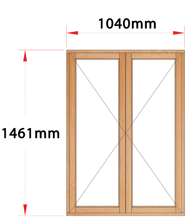 Van Acht Wood Windows Side Hung Full Pane Model MA22