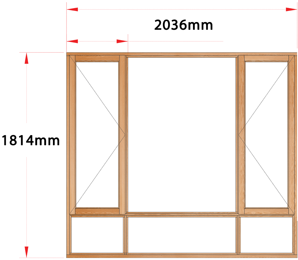 Van Acht Wood Windows Side Hung Full Pane Model MA4S