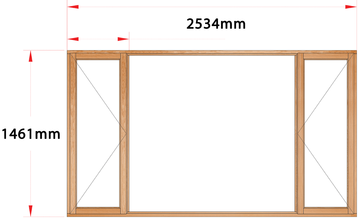 Van Acht Wood Windows Side Hung Full Pane Model MA5