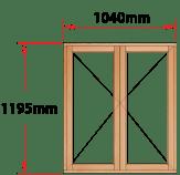 Van Acht Wood Windows Side Hung Full Pane Model MB22