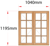 Van Acht Wood Windows Side Hung Small Pane Model MB22SP