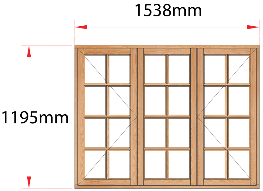 Van Acht Wood Windows Side Hung Small Pane Model MB3SP