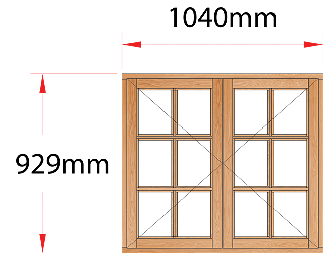 Van Acht Wood Windows Side Hung Small Pane Model MC22SP