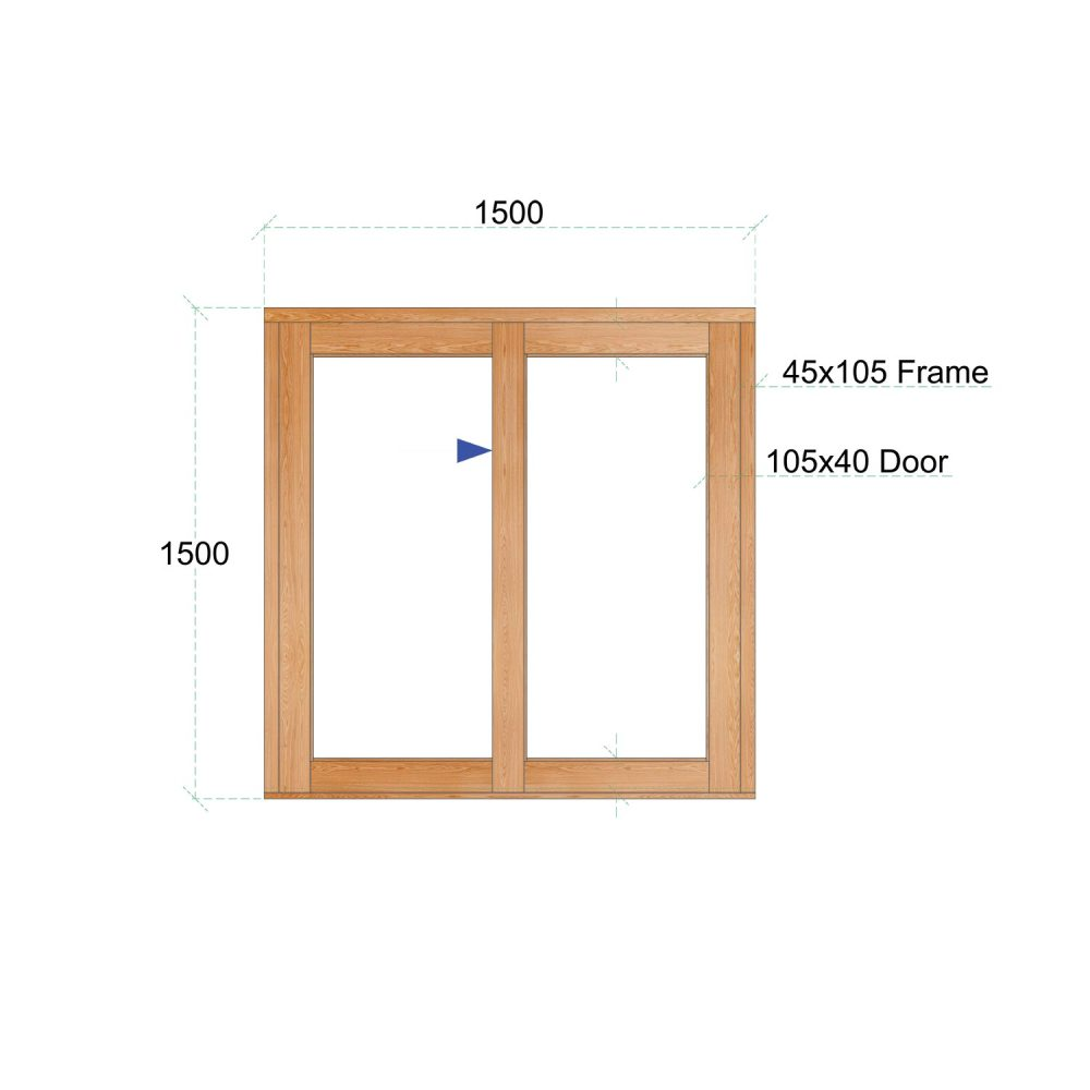 Van Acht Wood Windows Sliding Windows Product VSW1515L