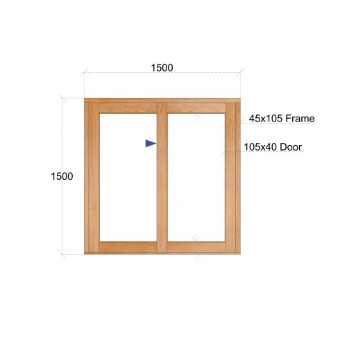 Van Acht Wood Windows Sliding Windows Product VSW1515L