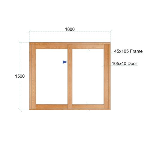 Van Acht Wood Windows Sliding Windows Product VSW1815L