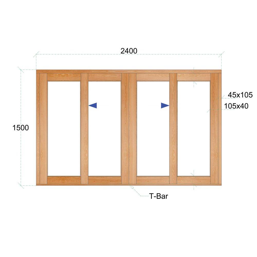 Van Acht Wood Windows Sliding Windows Product VSW2415 DS