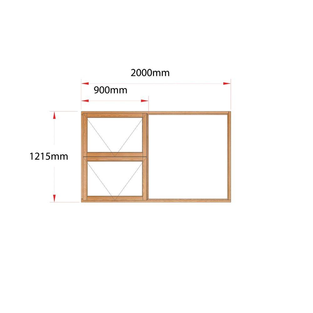 Van Acht Wood Windows Top Hung Product MG20 LH