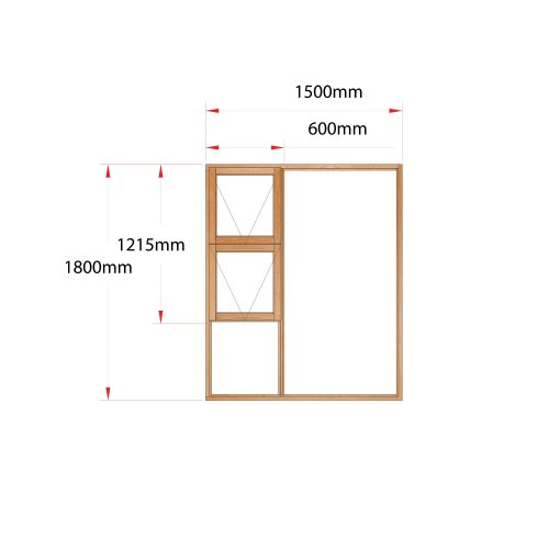 Van Acht Wood Windows Top Hung Product MJ15 LH
